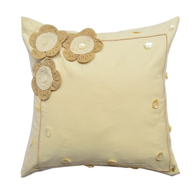 Applique Cotton Throw Pillow
