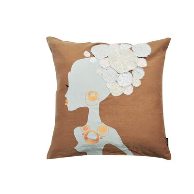 Patchwork Lady Cotton Throw Pillow