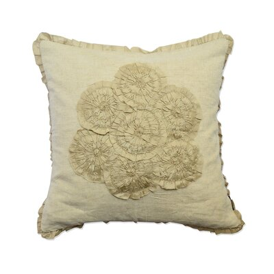 Bunch of Flower Cotton Throw Pillow