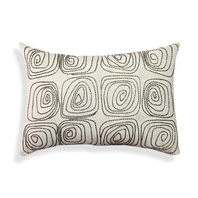 Beaded Geometric Cotton Lumbar Pillow