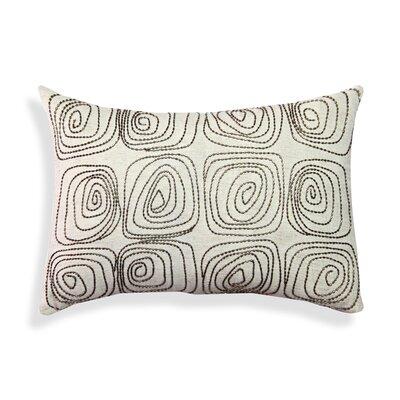 Beaded Geometric Cotton Lumbar Pillow