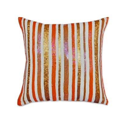 Stripe Opulence Cotton Throw Pillow