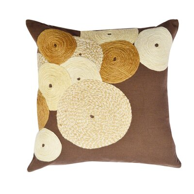 Jute Spirals Geometric Cotton Throw Pillow
