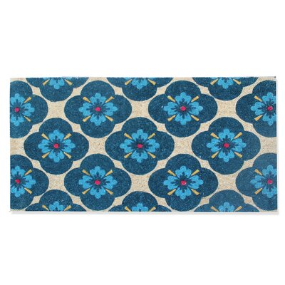 First Impression Engineered Anti Shred Treated Yahir Floral Doormat