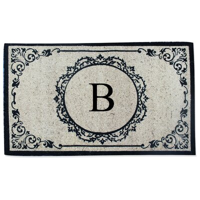 First Impression Engineered Anti Shred Treated Hanna Decorative Border Monogrammed Doormat Letter: B
