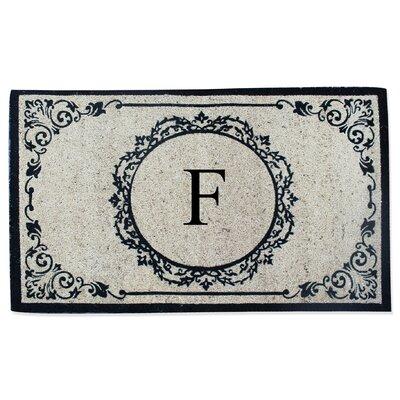 First Impression Engineered Anti Shred Treated Hanna Decorative Border Monogrammed Doormat Letter: F