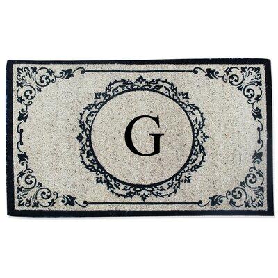 First Impression Engineered Anti Shred Treated Hanna Decorative Border Monogrammed Doormat Letter: G