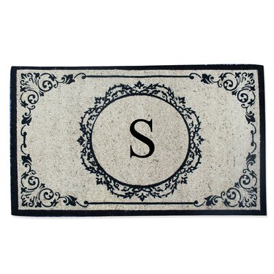 First Impression Engineered Anti Shred Treated Hanna Decorative Border Monogrammed Doormat Letter: S