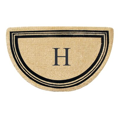 First Impression Engineered Anti Shred Treated Finlay Half Round Monogrammed Doormat Letter: H