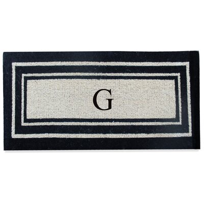 First Impression Westwood Border Monogrammed Doormat Letter: G