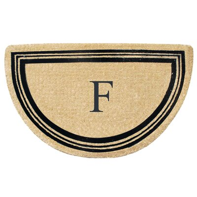 First Impression Engineered Anti Shred Treated Finlay Half Round Monogrammed Doormat Letter: F