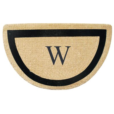 First Impression Engineered Anti Shred Treated Micah Half Round Monogrammed Doormat Letter: W