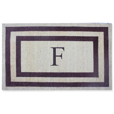 First Impression Engineered Anti Shred Treated Terrance Border Doormat Letter: F