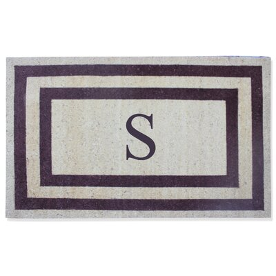 First Impression Engineered Anti Shred Treated Terrance Border Doormat Letter: S