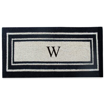 First Impression Westwood Border Monogrammed Doormat Letter: W