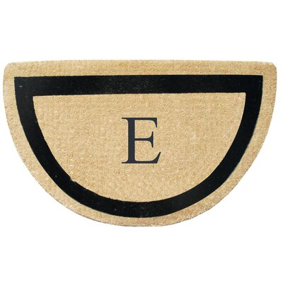 First Impression Engineered Anti Shred Treated Micah Half Round Monogrammed Doormat Letter: E