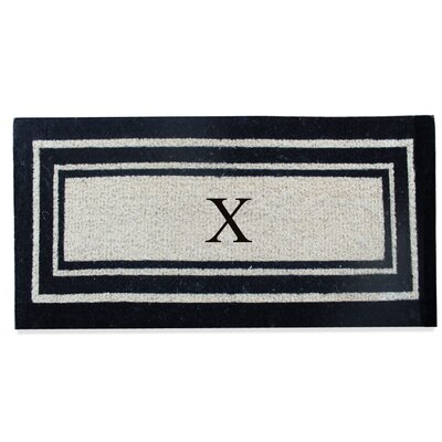 First Impression Westwood Border Monogrammed Doormat Letter: X