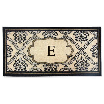 First Impression Engineered Anti Shred Treated Uriel Monogrammed Doormat Letter: E