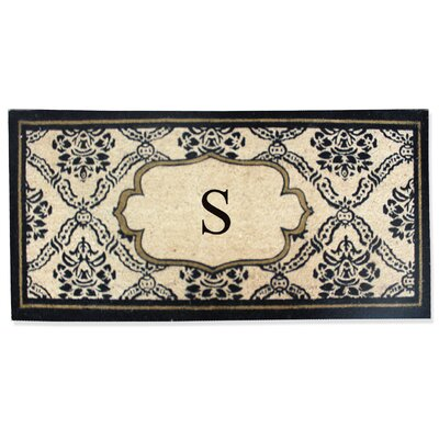 First Impression Engineered Anti Shred Treated Uriel Monogrammed Doormat Letter: S