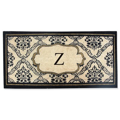 First Impression Engineered Anti Shred Treated Uriel Monogrammed Doormat Letter: Z