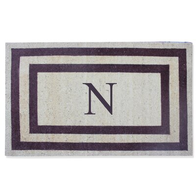 First Impression Engineered Anti Shred Treated Terrance Border Doormat Letter: N
