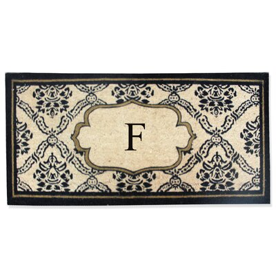 First Impression Engineered Anti Shred Treated Uriel Monogrammed Doormat Letter: F