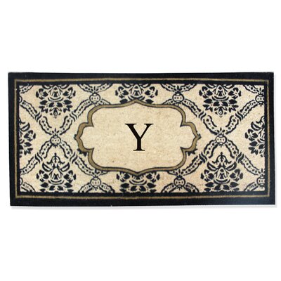 First Impression Engineered Anti Shred Treated Uriel Monogrammed Doormat Letter: Y