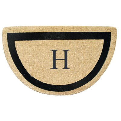 First Impression Engineered Anti Shred Treated Micah Half Round Monogrammed Doormat Letter: H