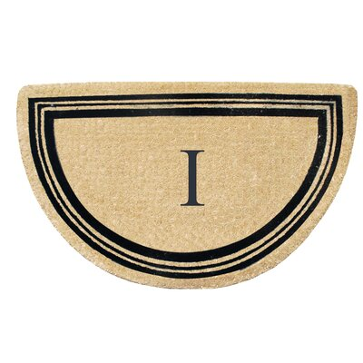 First Impression Engineered Anti Shred Treated Finlay Half Round Monogrammed Doormat Letter: I