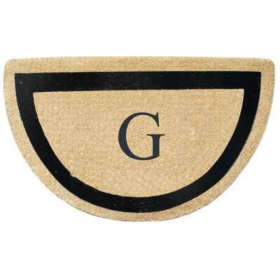 First Impression Engineered Anti Shred Treated Micah Half Round Monogrammed Doormat Letter: G