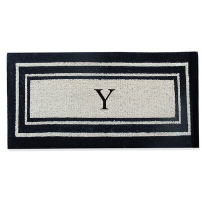First Impression Westwood Border Monogrammed Doormat Letter: Y