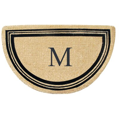 First Impression Engineered Anti Shred Treated Finlay Half Round Monogrammed Doormat Letter: M