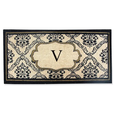 First Impression Engineered Anti Shred Treated Uriel Monogrammed Doormat Letter: V