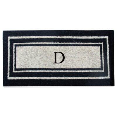 First Impression Westwood Border Monogrammed Doormat Letter: D