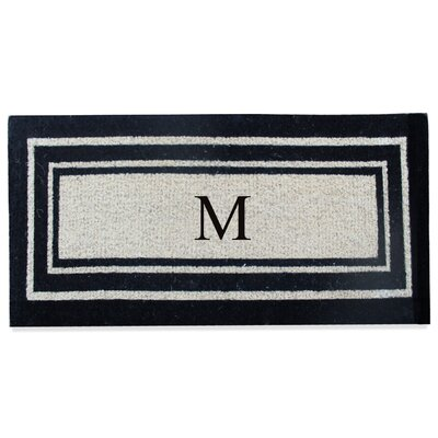 First Impression Westwood Border Monogrammed Doormat Letter: M