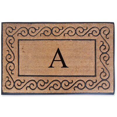 First Impression Monogrammed Double Doormat Letter: A
