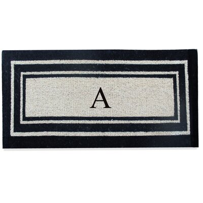 First Impression Westwood Border Monogrammed Doormat Letter: A