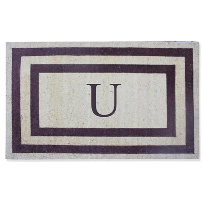 First Impression Engineered Anti Shred Treated Terrance Border Doormat Letter: U