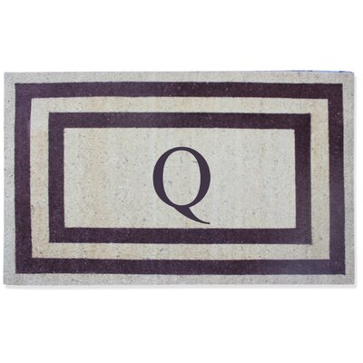 First Impression Engineered Anti Shred Treated Terrance Border Doormat Letter: Q