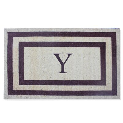 First Impression Engineered Anti Shred Treated Terrance Border Doormat Letter: Y