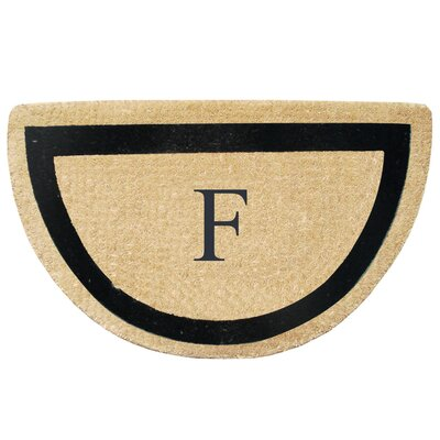 First Impression Engineered Anti Shred Treated Micah Half Round Monogrammed Doormat Letter: F