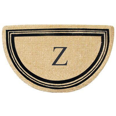 First Impression Engineered Anti Shred Treated Finlay Half Round Monogrammed Doormat Letter: Z