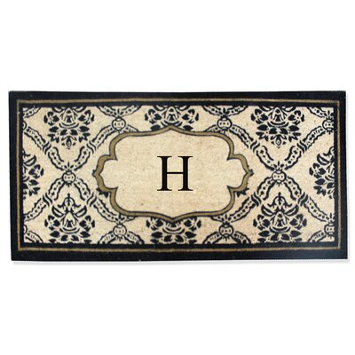 First Impression Engineered Anti Shred Treated Uriel Monogrammed Doormat Letter: H