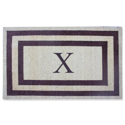 First Impression Engineered Anti Shred Treated Terrance Border Doormat Letter: X