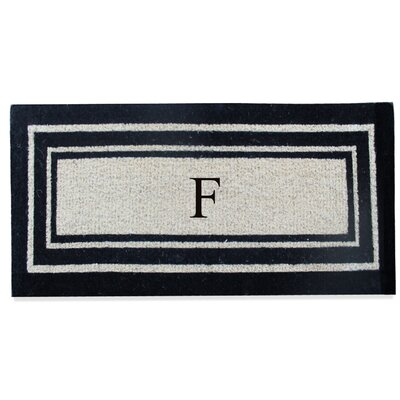 First Impression Westwood Border Monogrammed Doormat Letter: F