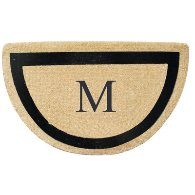 First Impression Engineered Anti Shred Treated Micah Half Round Monogrammed Doormat Letter: M