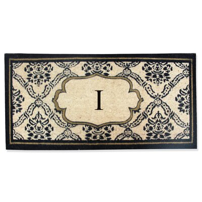 First Impression Engineered Anti Shred Treated Uriel Monogrammed Doormat Letter: I