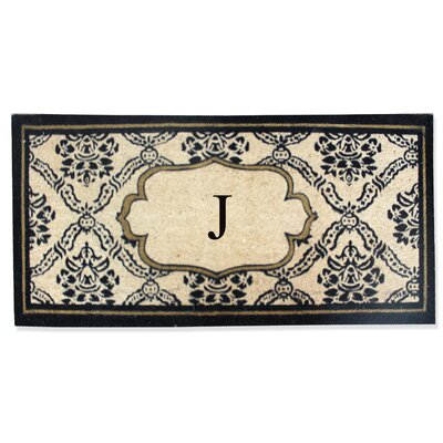 First Impression Engineered Anti Shred Treated Uriel Monogrammed Doormat Letter: J