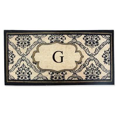 First Impression Engineered Anti Shred Treated Uriel Monogrammed Doormat Letter: G