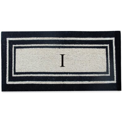 First Impression Westwood Border Monogrammed Doormat Letter: I